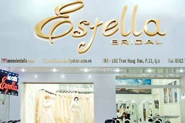biển hiệu thời trang áo cưới